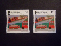 ISLE OF MAN 2015  QUEENS HEAD ERROR Big On The Left, Small On The Right  CEPT  MNH **   (S24-224) - Europa-CEPT