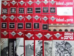 DEBOUT LES PARAS JOURNAL PARACHUTISTE TAP TROUPE AEROPORTEES N°47 A 67 1976 - Revues & Journaux