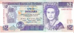 Belize - Pick 52 - 2 Dollars 1990 - Unc - Belize