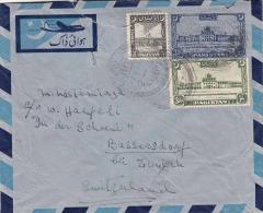 PAKISTAN / 3 Fach Frankierter Alter Flugpostbrief Von Pakistan Nach Bassersdorf - Pakistan