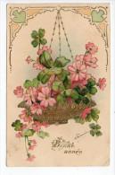 Pionnière/Gaufrée - Bonne Année/ Suspension Fleurie / Illustrateur - Diné De Sézanne - 1904 - Nieuwjaar