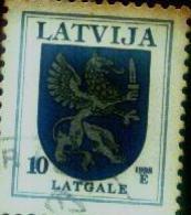 Latvia / Lettonia LION- 10 Sant-1998 Year -stamp - O - Latvia