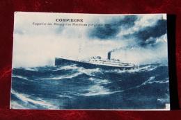 Paquebot Des Messageries Maritimes : COMPIEGNE - Steamers