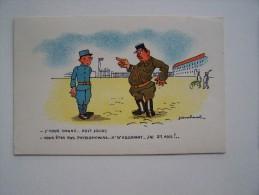 Lot De 2 CARTES MILITAIRE HUMORISTIQUE HUMOUR NEUVES édition LA ROSE Soldat Caserne Armée Infanterie Guerre - Humor