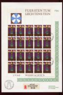 Liechtenstein, Kleinbogen  FDC 1980, Weihnachten - FDC