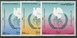 Kuwait 1986 Internationales Jahr des Friedens 1105/07 postfrisch