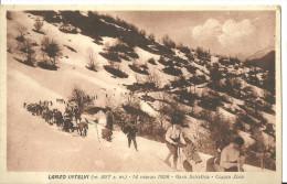 Lanzo D´Intelvi (Como, Lombardia) 14 Marzo 1926, Gara Sciistica - Coppa Zoia, Sciatori - Sport Invernali