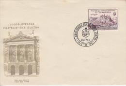Enveloppe  1er  Jour  YOUGOSLAVIE   1ére   Exposition   Philatélique   BELGRADE    1952 - FDC