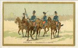 Epicerie Ledouarec, France, Chasseurs à Cheval - Cromo