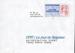 2- FRANCE Enveloppe Réponse CFRT - Enteros Postales