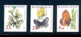 CROATIA * SERIE 3v 2001 BUTTERFLIES BUTTERFLY MARIPOSA PAPILLON * MNH - Kroatië