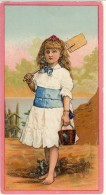 Primi Liebig (1875 - 84, N. 3A Fanciulle, Figurina E 'Con Secchiello E Badile', Ma Usati In Usa (serie Originale € 1200) - Liebig