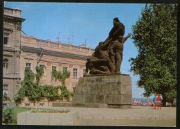 "Ukraine USSR 1976 Stationery Postcard  Odessa, Monument To The Sailors Of The Battleship ""Potemkin"" - Oorlogsmonumenten"