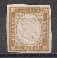 REGNO D'ITALIA   1861-63 REGNO DI SARDEGNA  EFFIGE V.EMANUELE  II   SASS. 14E  MNH VF SENZA GOMMA - Nuovi