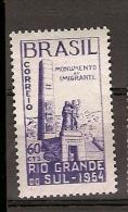 Brazil ** & Monument Inauguration Of The Immigrant, Rio Grande Do Sul 1954 (568) - Nuevos