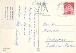 "K3784 - BRD (1971) 85 N�rnberg BPA: ""AD"" (logo) Albrecht D�rer (1471-1528) Year 1971 (postcard: Castle N�rnberg)"