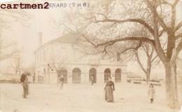 CARTE PHOTO : CAZES-MONDENARD LA HALLE 82 TARN-ET-GARONNE - France