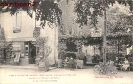 USSAT-LES-BAINS CAFE DES CHARMILLES LA TERRASSE ECPICERIE ET BUREAU DE TABAC L. RUFFIE 09 ARIEGE - Sin Clasificación