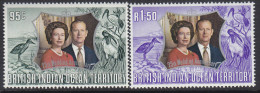 BIOT, 1972 SILVER WEDDING ANNIV 2 MNH - British Indian Ocean Territory (BIOT)
