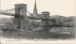 LANGON - 33 -  Pont Suspendu Sur La Garonne - ENCH2011 - - Langon