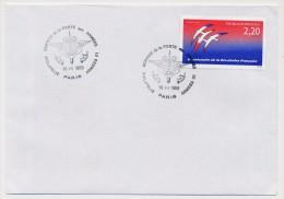 """FRANCE - """"Service De La Poste Aux Armées - Philatélie"""" (Point Philatélie) - Philatélie Armées 01 - PARIS 10/07/1989 - Philatélie & Monnaies"""
