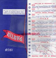 75 - PARIS - DEPLIANT TOURISTIQUE PARTIR 1939- 127 AV. CHAMPS ELYSEES- AUTOCAR -CHEMIN DE FER - - Dépliants Touristiques