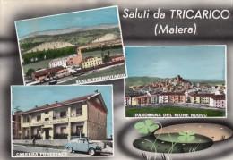 10180-SALUTI DA TRICARICO(MATERA)-SCALO FERROVIARIO-CASERMA FORESTALE-FG - Souvenir De...