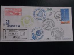 E.esa Ariane 40 V44 Eme Tir  Cachet Des Stations Kourou CAYENNE N°80. 18/7/91 LOLLINI Signée - Unclassified