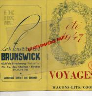 75 - PARIS - DEPLIANT TOURISTIQUE VOYAGES ETE 1947- 14 BD CAPUCINES- MADELEINE- SOLO GALTIER-BRUNSWICK-CAMBET LYON- - Dépliants Touristiques