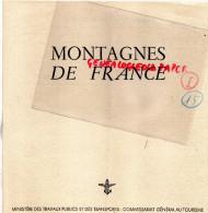 75 - PARIS- DEPLIANT TOURISTIQUE MONTAGNE DE FRANCE- MINISTERE TOURISME-ALPES-PYRENEES-JURA-VOSGES-CORSE- - Dépliants Touristiques