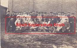 WW1 Foto Eisenbahn Regiment Nr. 2 4. Ersatz Kompagnie Gruppenfoto Werkzeug Feldpost 1916 Brigade Hanau