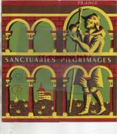 75- PARIS- SANCTUARIES PILGRIMAGES- E. LANCASTER- CHARTRES-LISIEUX-SAINT MICHEL-LOURDES-PARAY LE MONIAL-VEZELAY- - Dépliants Touristiques