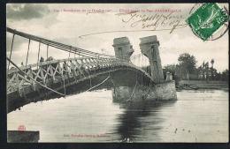 ANDREZIEUX- Inondation Du 17 Octobre 1907- Effondrement Du Pont - -CPA Voyagée  1907- PAYPAL SANS FRAIS- - Andrézieux-Bouthéon