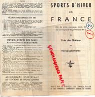 75- PARIS- DEPLIANT SPORTS D' HIVER FRANCE- ALPES-PYRENEES-JURA-AUBERGES JEUNESSE- BRIANCON-SAVOIE-SKI- - Dépliants Touristiques