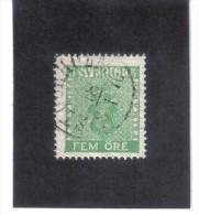 BIN167  SCHWEDEN  1858 Michl  7   Used / Gestempelt SIEHE ABBILDUNG - Usati