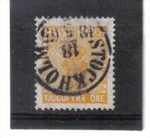 BIN697  SCHWEDEN  1858 Michl  10   Used / Gestempelt SIEHE ABBILDUNG - Usati