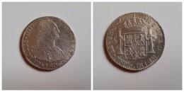 España   8 Reales   Plata 1806    Rey Carlos IV    Lima  J.P.  26.89 G  MBC - [ 1] …-1931 : Royaume