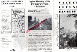 36 - ARGENTON SUR CREUSE - VALLE CREUSE ET BAS BERRY- GEORGES SAND- LIBRAIRIE IMPRIMERIE  LANGLOIS- - Dépliants Touristiques