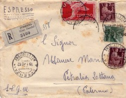 ITALIA   Storia Postale  Democratica   Lettere Racc.  Mista  Lire 10 - 4. 1944-45 Repubblica Sociale