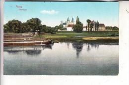 POSEN - POSEN / POZNAN, 1915, Dominsel, Binnenschiffe, deutsche Feldpost Inf. Regt. 52