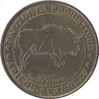 S04A175 - 2004 PARC DE LA PREHISTOIRE - Le Bison / MONNAIE DE PARIS