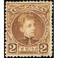 ES241STV-LFT**241STAN.España. Spain.Espagne.ALFONSO Xlll .1901/5 (Ed 241*) Con Charnela.MUY BIEN CENTRADO - 1889-1931 Regno: Alfonso XIII