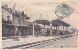 Champagnole BF 1115 Gare Avec Train - Champagnole