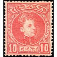 ES243STV-LFT2902TCFR.España. Spain.Espagne.Rey ALFONSO Xlll .1901/5 (Ed 243*) Con Charnela. - Familias Reales