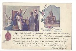 13453 - Pièce Historique Payerne Reine Berthe  Voyagée En 1899   2 Scans - VD Vaud