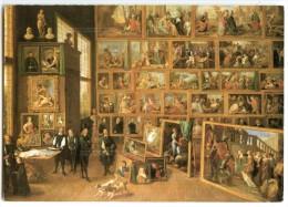 David Teniers - L´archevêque Léopold Guillaume Contemplant Les Peintures - écrite Et Timbrée (pour Jeu-concours) 2 Scans - Peintures & Tableaux