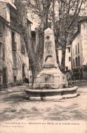 04 VOLONNE MONUMENT AUX MORTS DE LA GRANDE GUERRE CIRCULEE 1925 - War Memorials