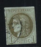 FRANCE - N° 39A - Obl. Légère - Au Filet En Bas - Infime Aminci - Cote 275€ - A Voir - Lot P13232 - 1870 Emission De Bordeaux