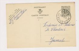 Carte Postale De 1954 De MERCHTEM Vers Jumet - Entiers Postaux