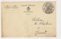 Carte Postale De 1957 De FAMILLEUREUX Vers JUMET - Entiers Postaux